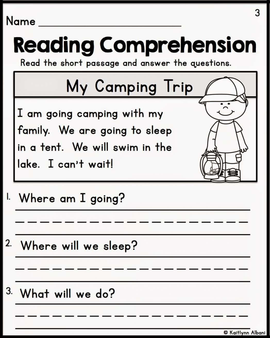 1st Grade Comprehension Worksheets Free Prehension Worksheets for Grade 1 Free