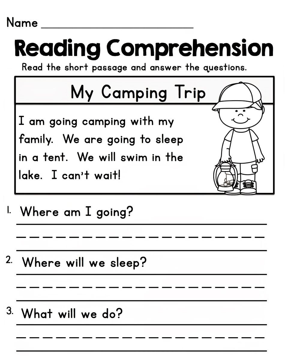 1st Grade Comprehension Worksheets Free Worksheets for 1st Grade In 2020