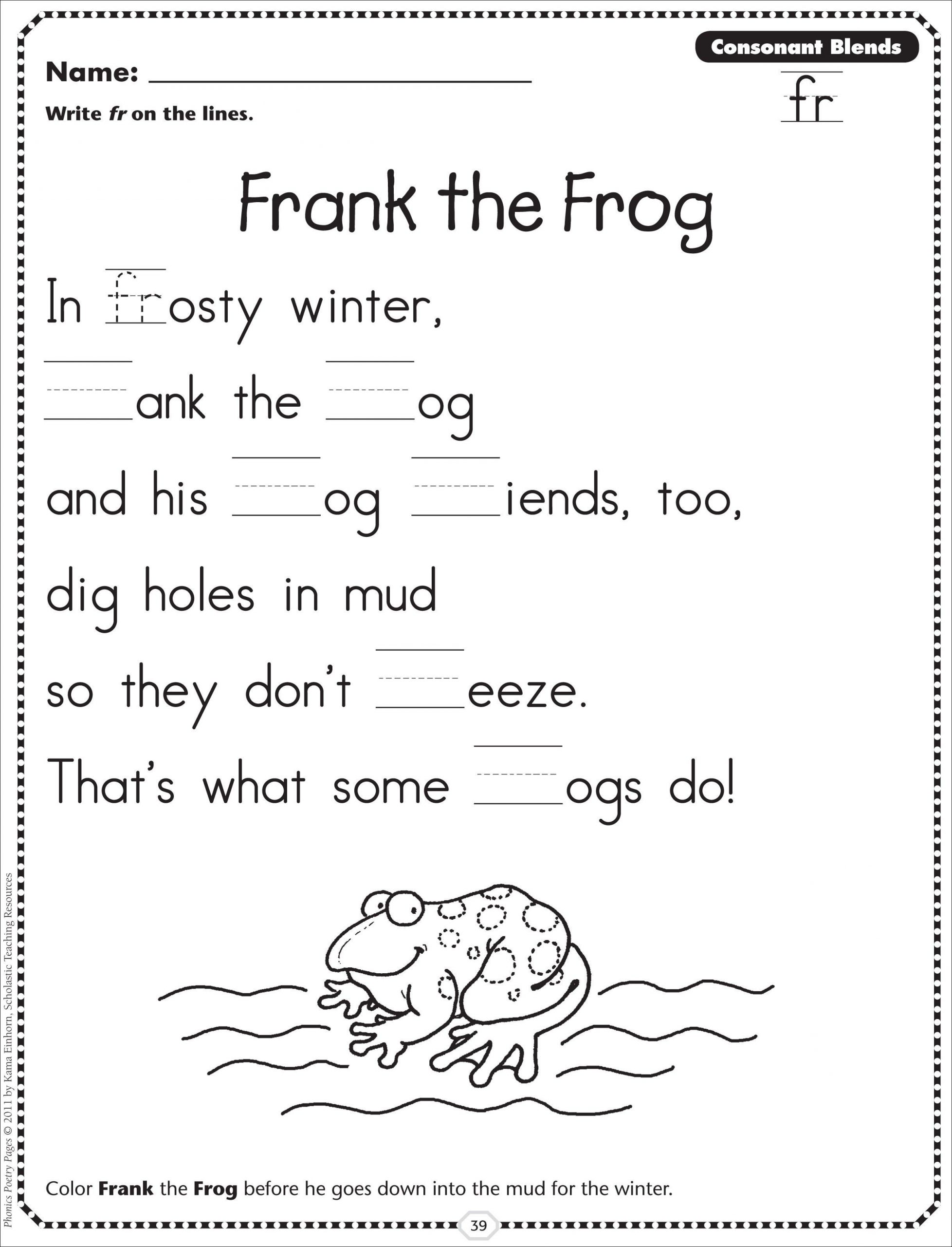 2nd Grade Consonant Blends Worksheets Pin by Kiara Mitchell On Teaching