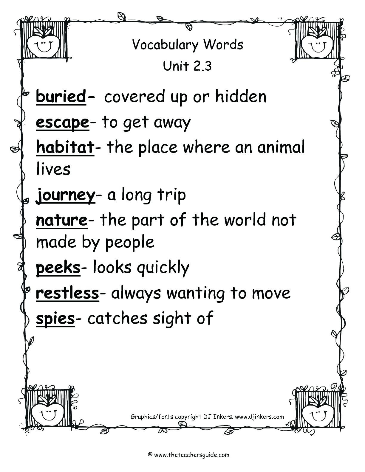 2nd Grade Habitat Worksheets Worksheet Illustrator Free Read and Match Worksheets