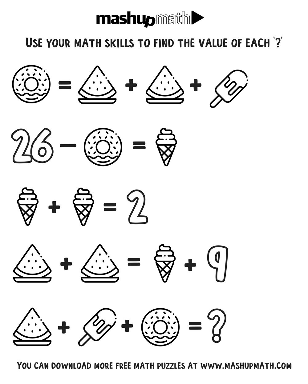 2nd Grade Math Challenge Worksheets Free Math Coloring Worksheets for 3rd and 4th Grade — Mashup