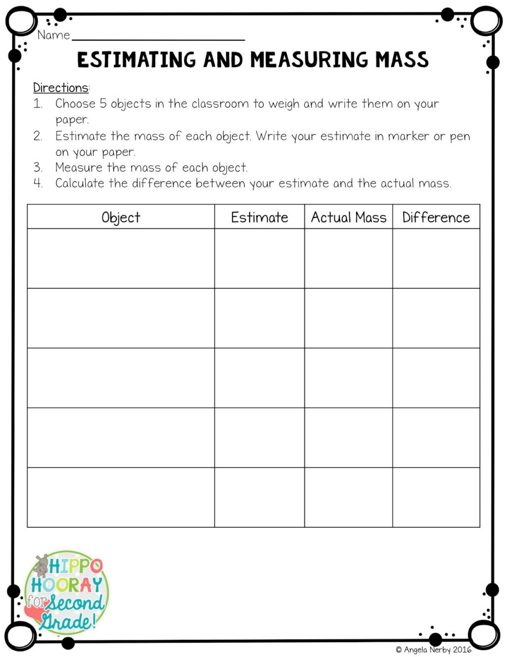 2nd Grade Measurement Worksheets Free Worksheet Secondde Measurement Worksheets Picture Ideas