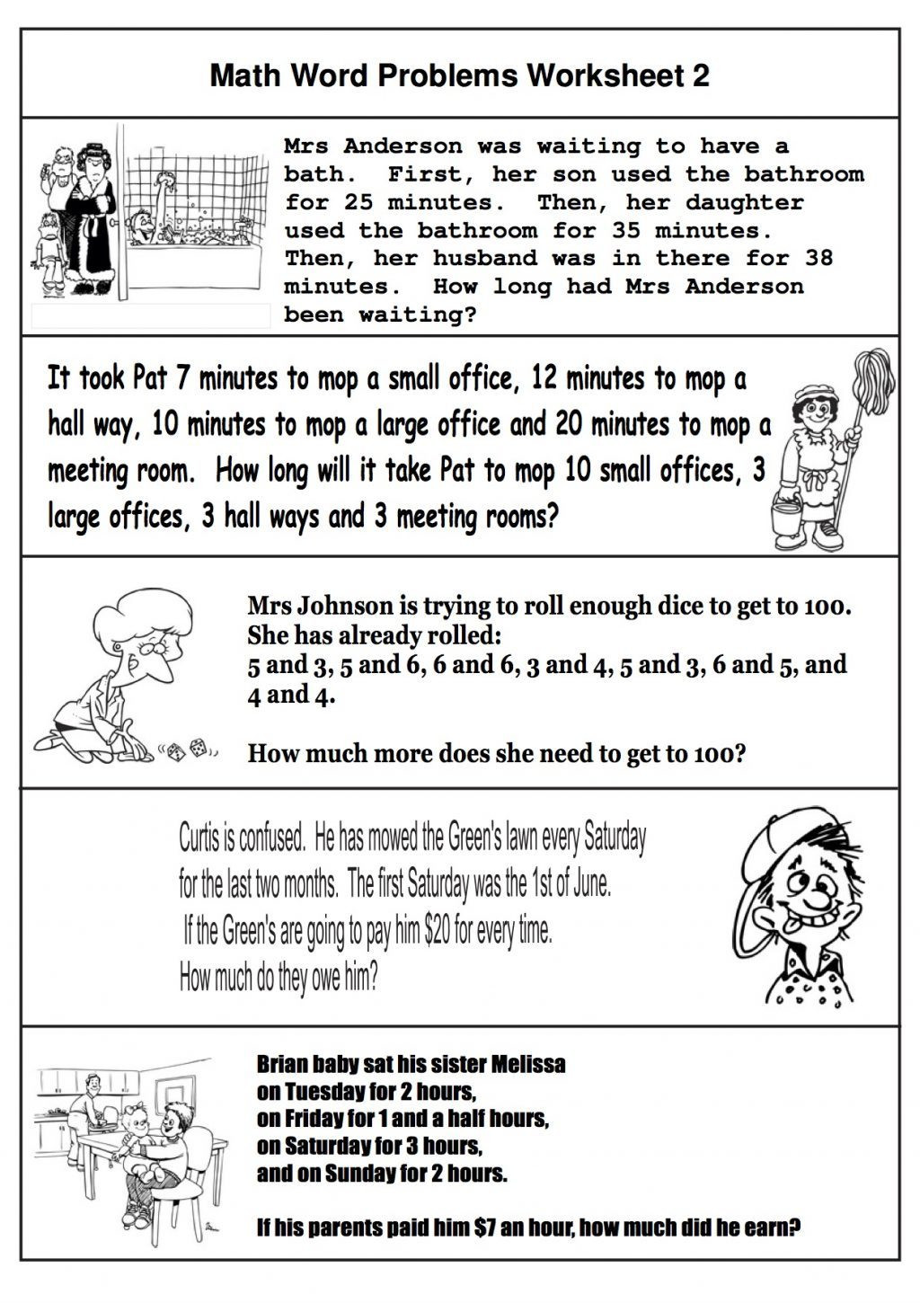 2nd Grade Minute Math Worksheets 2nd Grade Math Word Problems Best Coloring for Kids Two Step