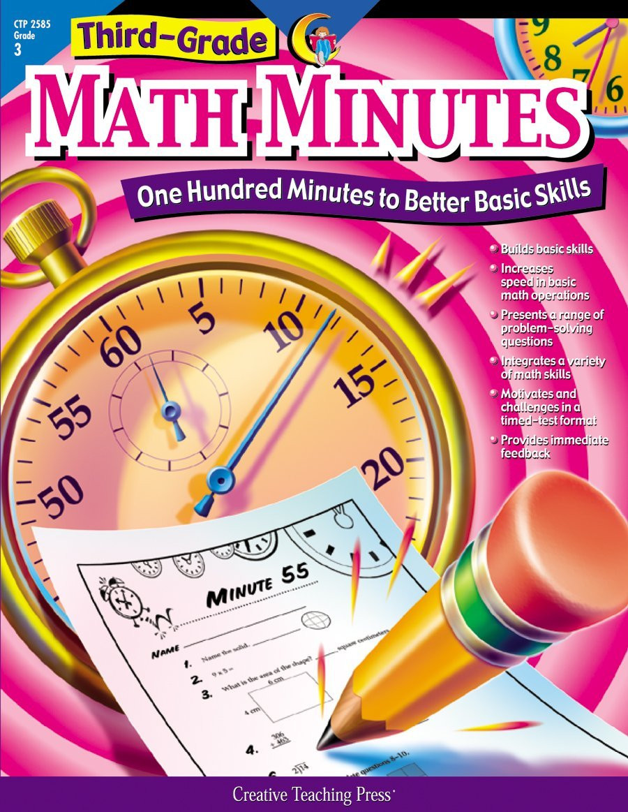2nd Grade Minute Math Worksheets Amazon Creative Teaching Math Minutes 3rd Grade