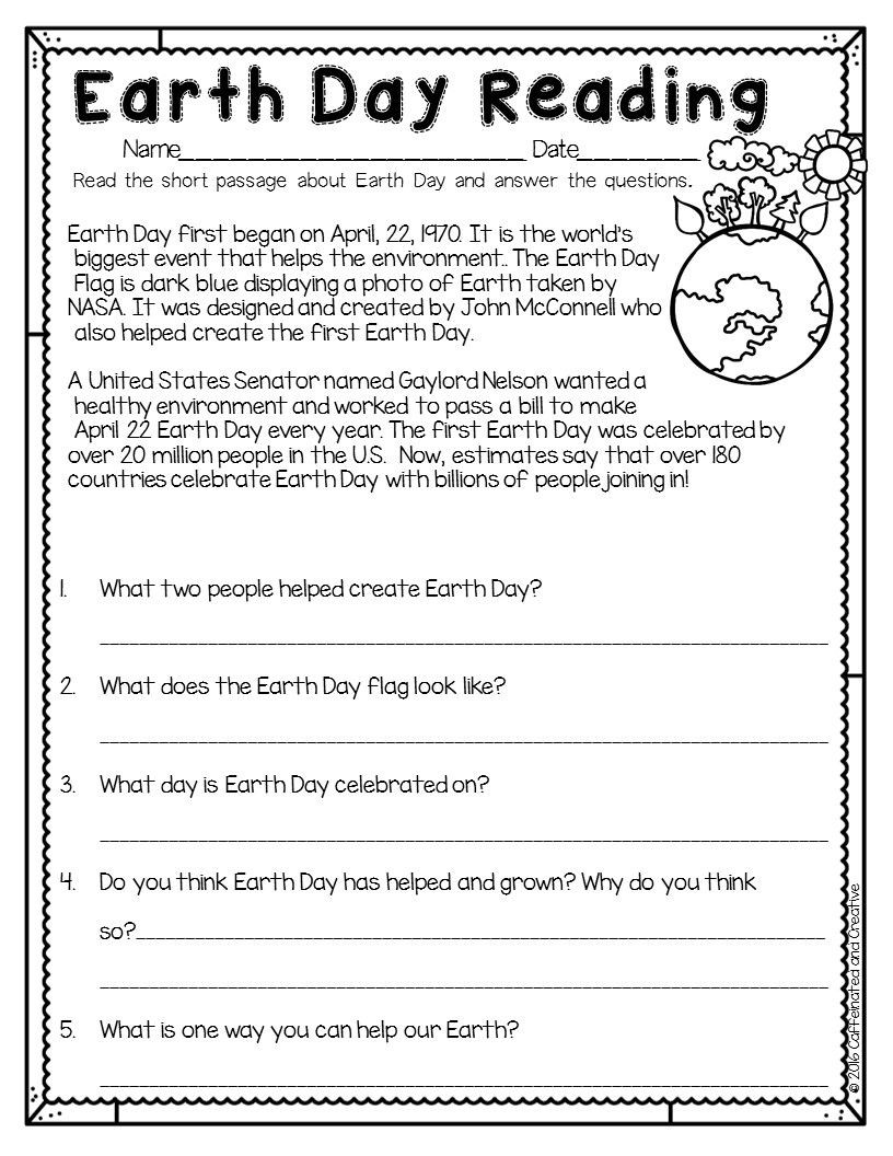 2nd Grade Reading Response Worksheets Spring Into Spring Holidays