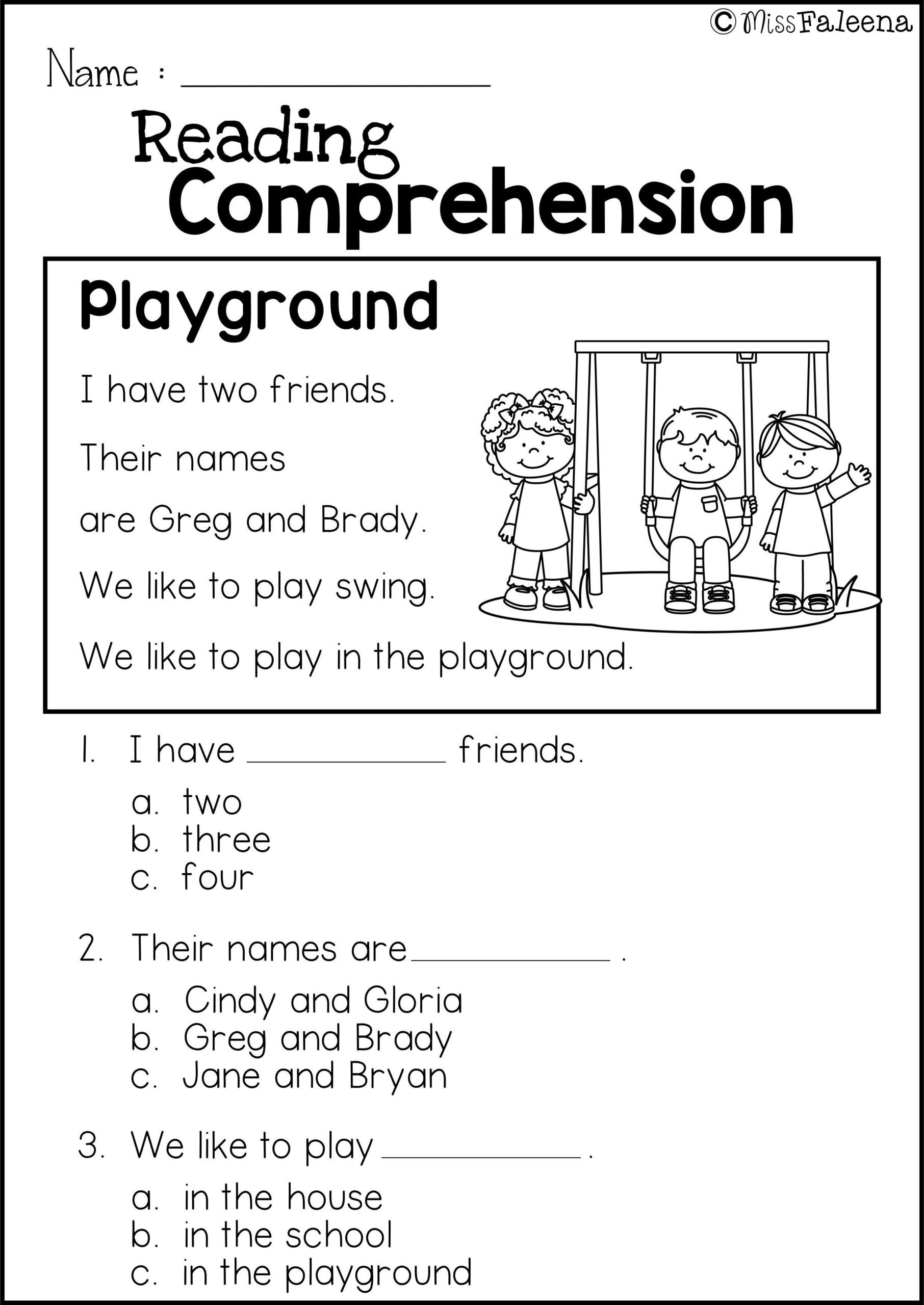 2nd Grade Reading Worksheets Printable Math Worksheet Printable Reading Prehension for Second