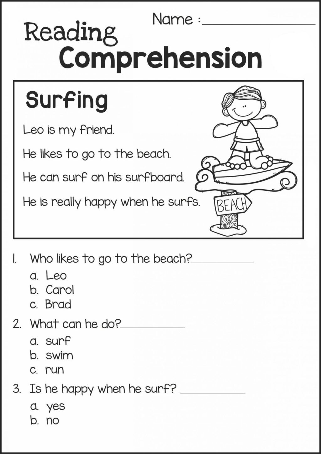 2nd Grade Reading Worksheets Printable Worksheet Free 2nd Grade Reading