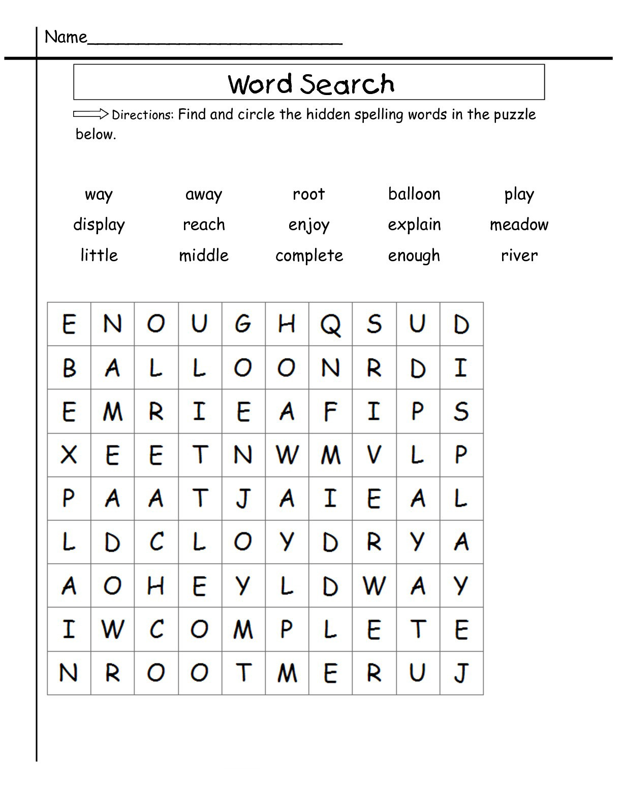 2nd Grade Spelling Words Worksheets 2nd Grade Word Search Best Coloring Pages for Kids