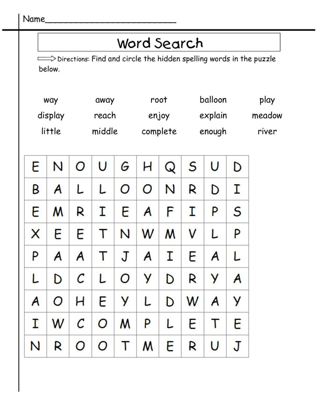 2nd Grade Spelling Worksheets Pdf Worksheet Worksheet 2nd Grade Word Search Sight Worksheets