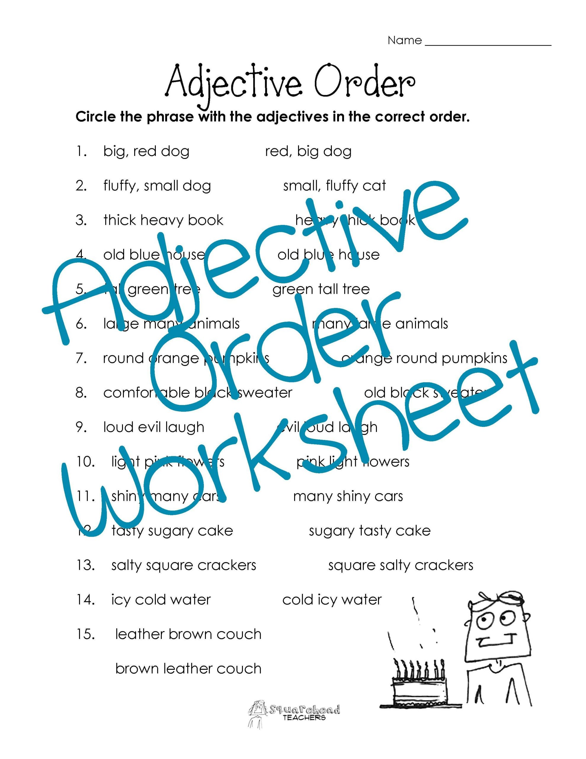 3rd Grade Adjectives Worksheets Adjective Worksheets 4th Grade