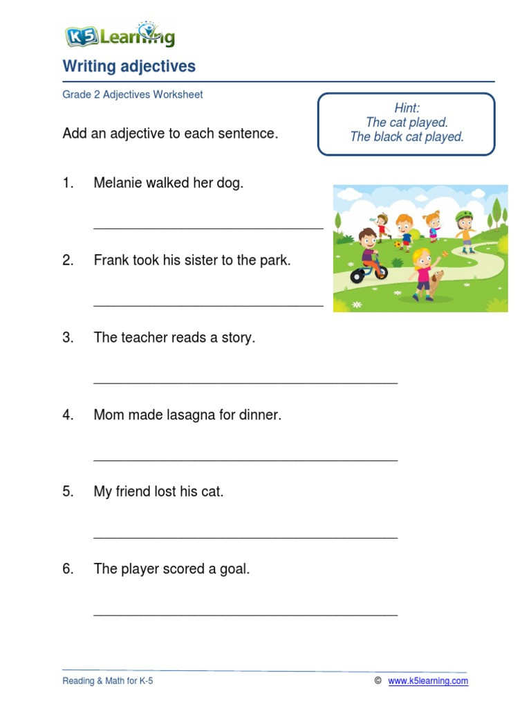 3rd Grade Adjectives Worksheets Grade Adjectives Worksheets Simplifying Cube Roots Basic