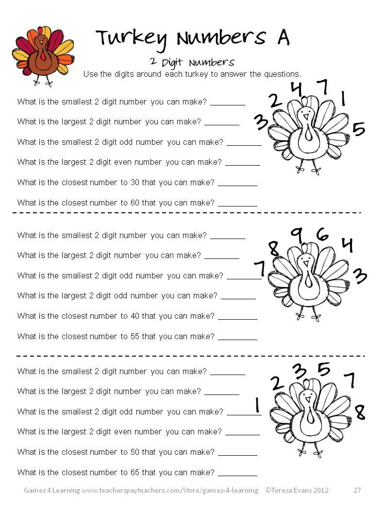 3rd Grade Brain Teasers Printable Thanksgiving Math Worksheets Games Puzzles Brain Teasers 3rd