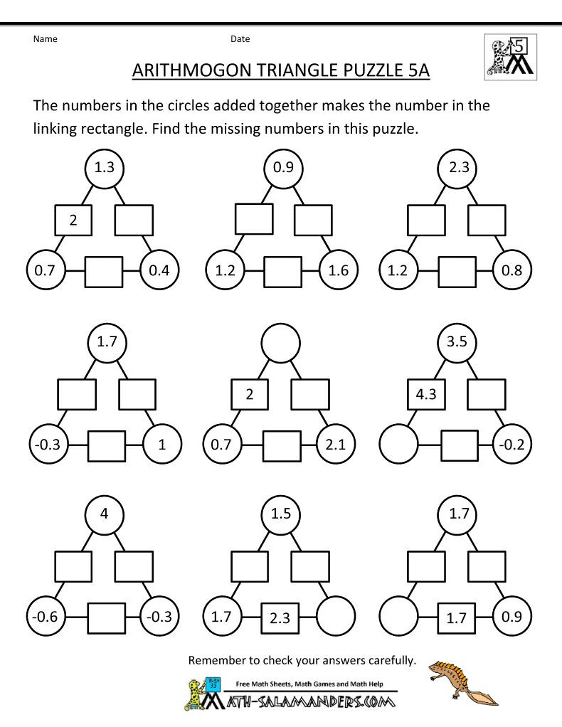 3rd Grade Brain Teasers Worksheets Printable Math Brain Teasers that are Intrepid