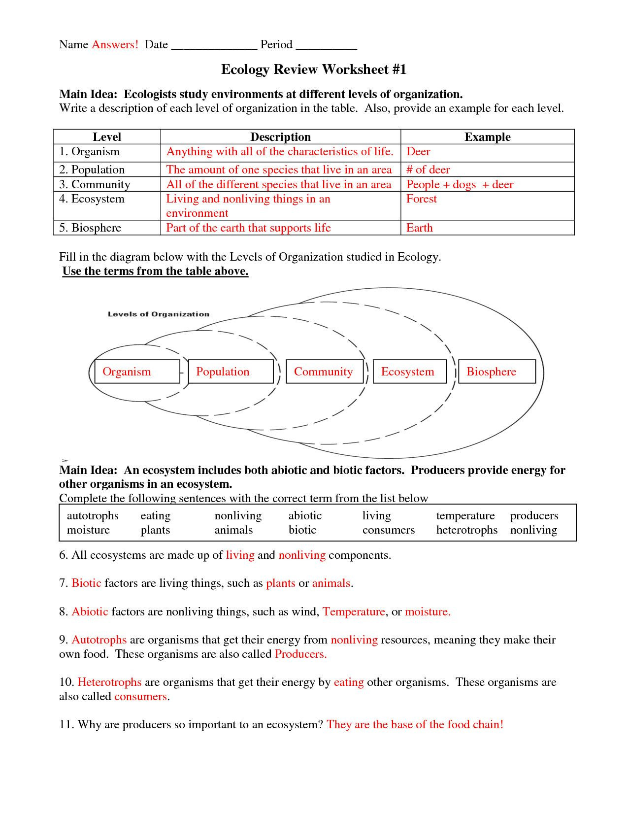 3rd Grade Ecosystem Worksheets Multi Gamer Free 5th Grade Mon Core Math Worksheets