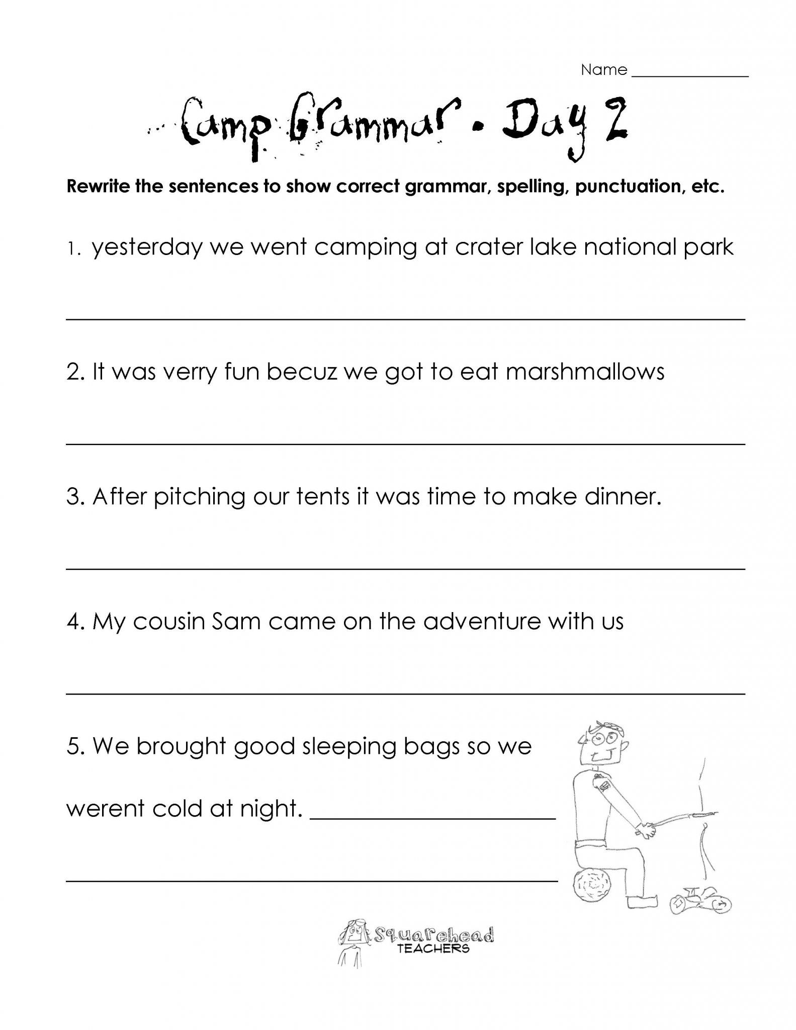 3rd Grade Grammar Worksheets Free 2nd Grammar Worksheets