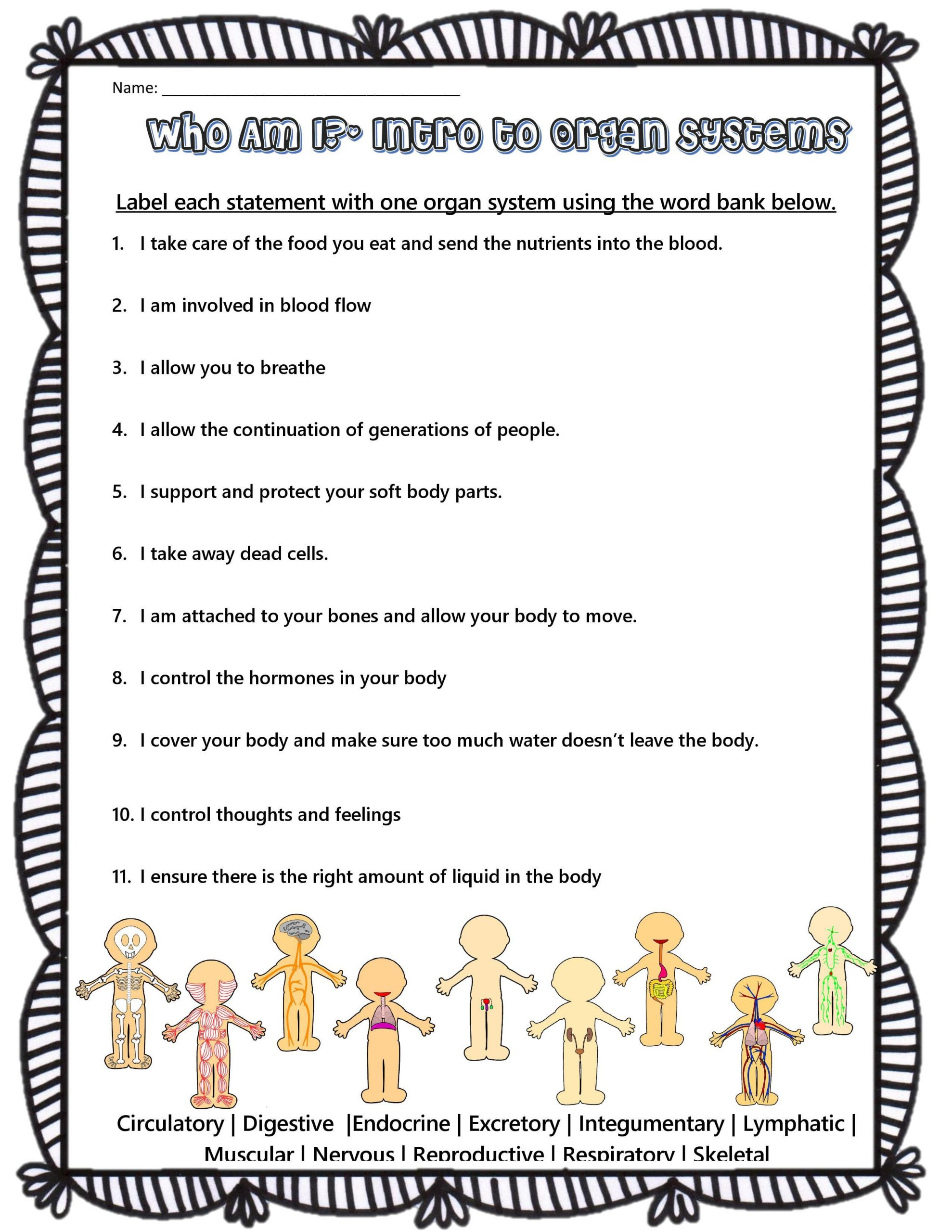 3rd Grade Human Body Worksheets Science Worksheets for Grade 3 Human Body