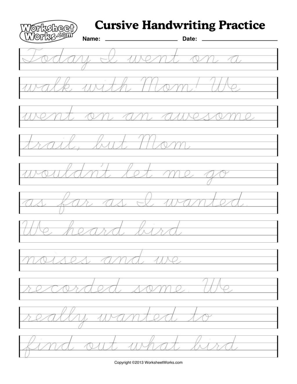 4th Grade Writing Worksheets Pdf Worksheet Cursive Writing Worksheets Free Printable