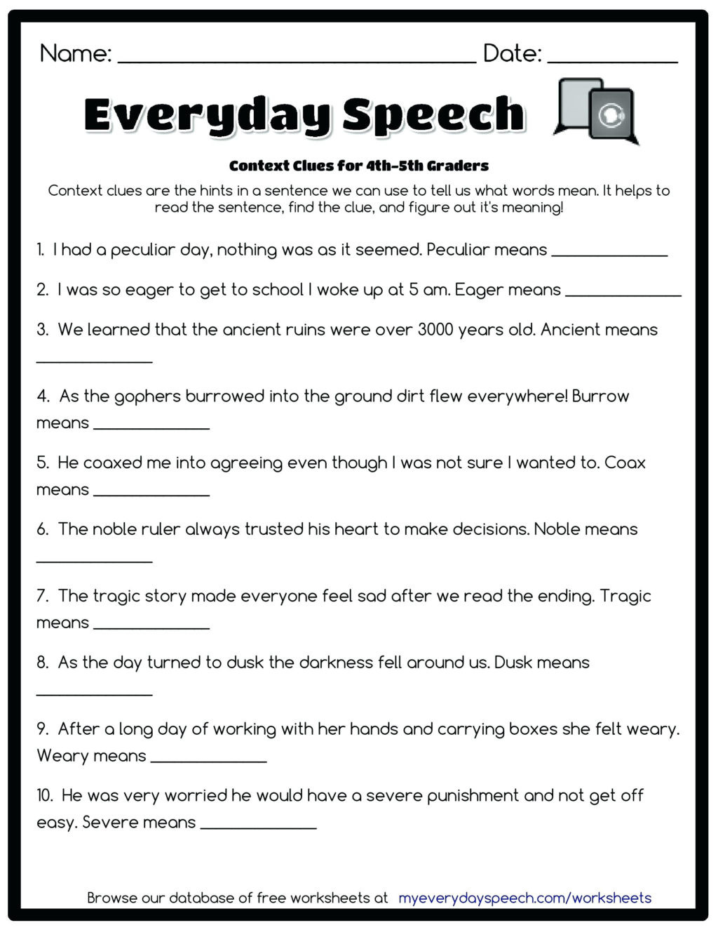 4th Grade Writing Worksheets Pdf Worksheet Free Mathorksheets to Print Out Graderiting