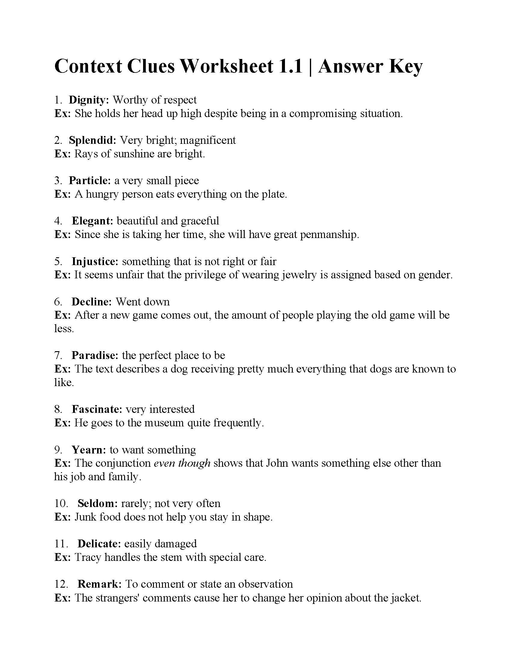 5th Grade Context Clues Worksheets 38 Interesting Context Clues Worksheets