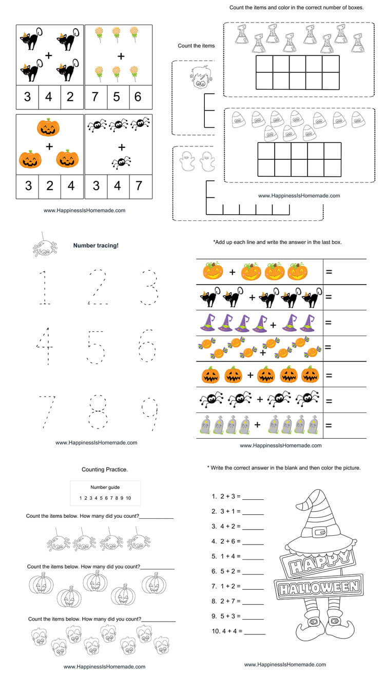 5th Grade Jeopardy Math Kindergarten Halloween Math Pack Happiness is Homemade