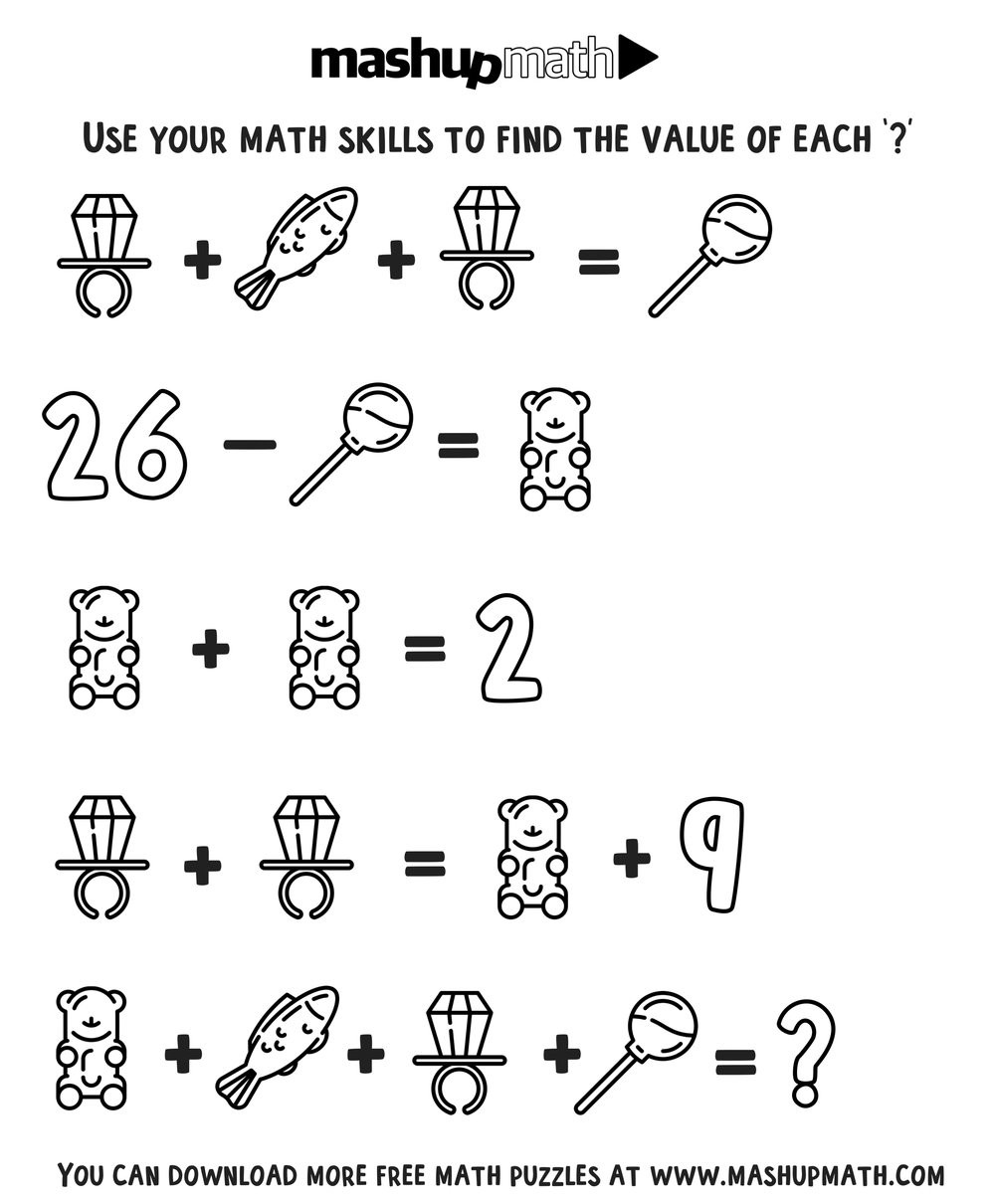 6th Grade Math Puzzles Pdf Free Math Coloring Worksheets for Grades 1 8 — Mashup Math