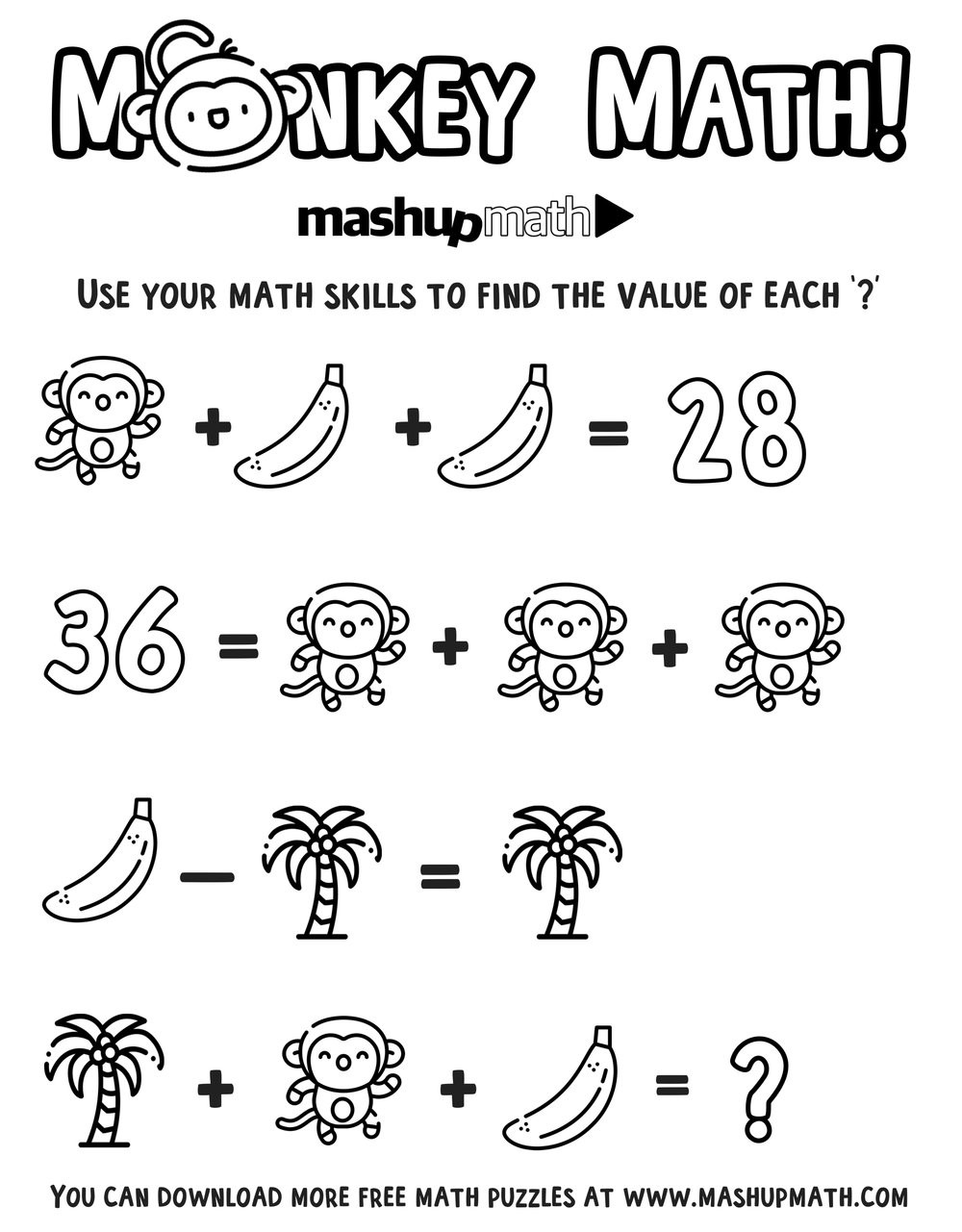 6th Grade Math Puzzles Worksheets Multiplication Coloring Worksheets Monkeymathcoloring Free