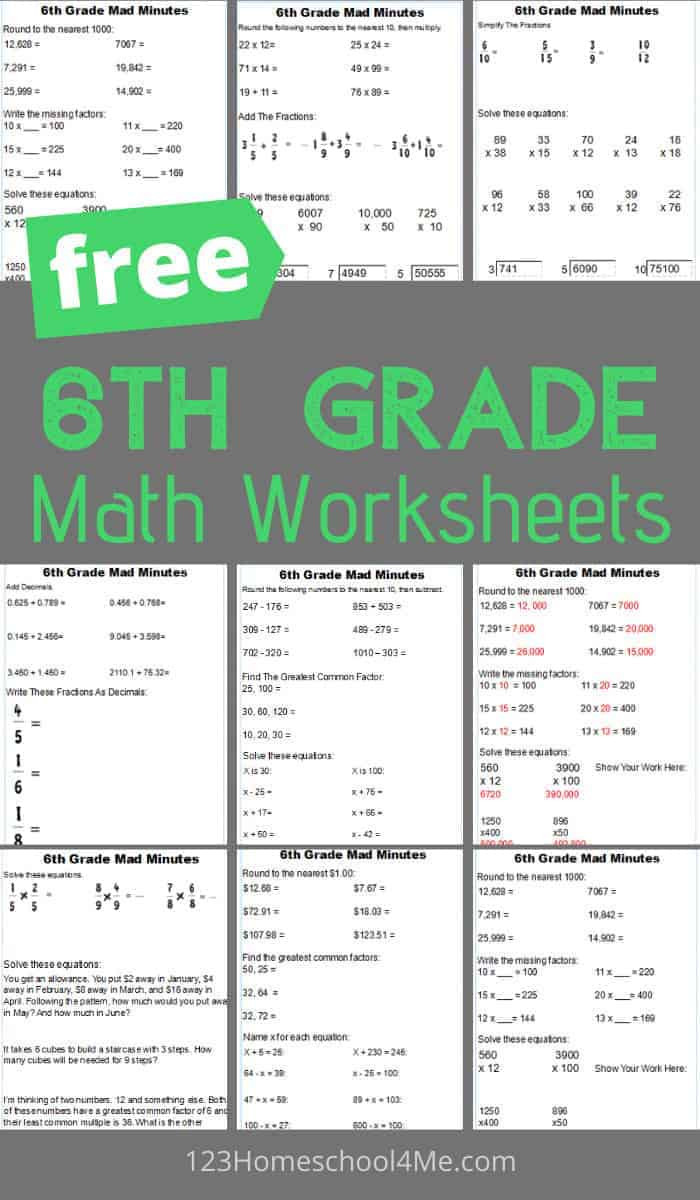 6th Grade Measurement Worksheets Free 6th Grade Math Worksheets Getting Ready for Worksheet