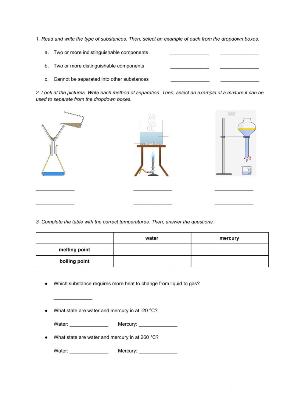 6th Grade Science Energy Worksheets Natural Science 6th Grade Esl Unit 7 Matter and Energy