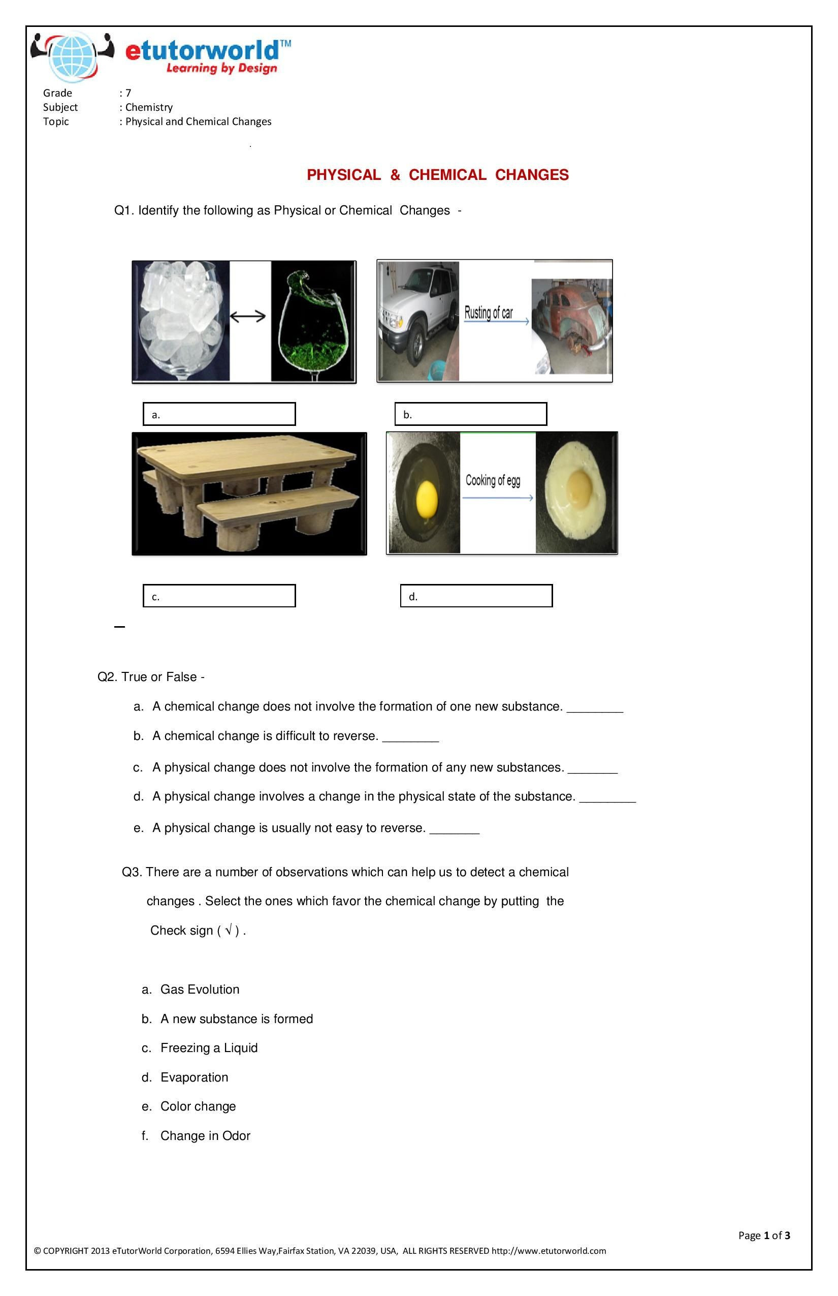 7th Grade Science Worksheets Pdf Science Worksheets for Grade 7