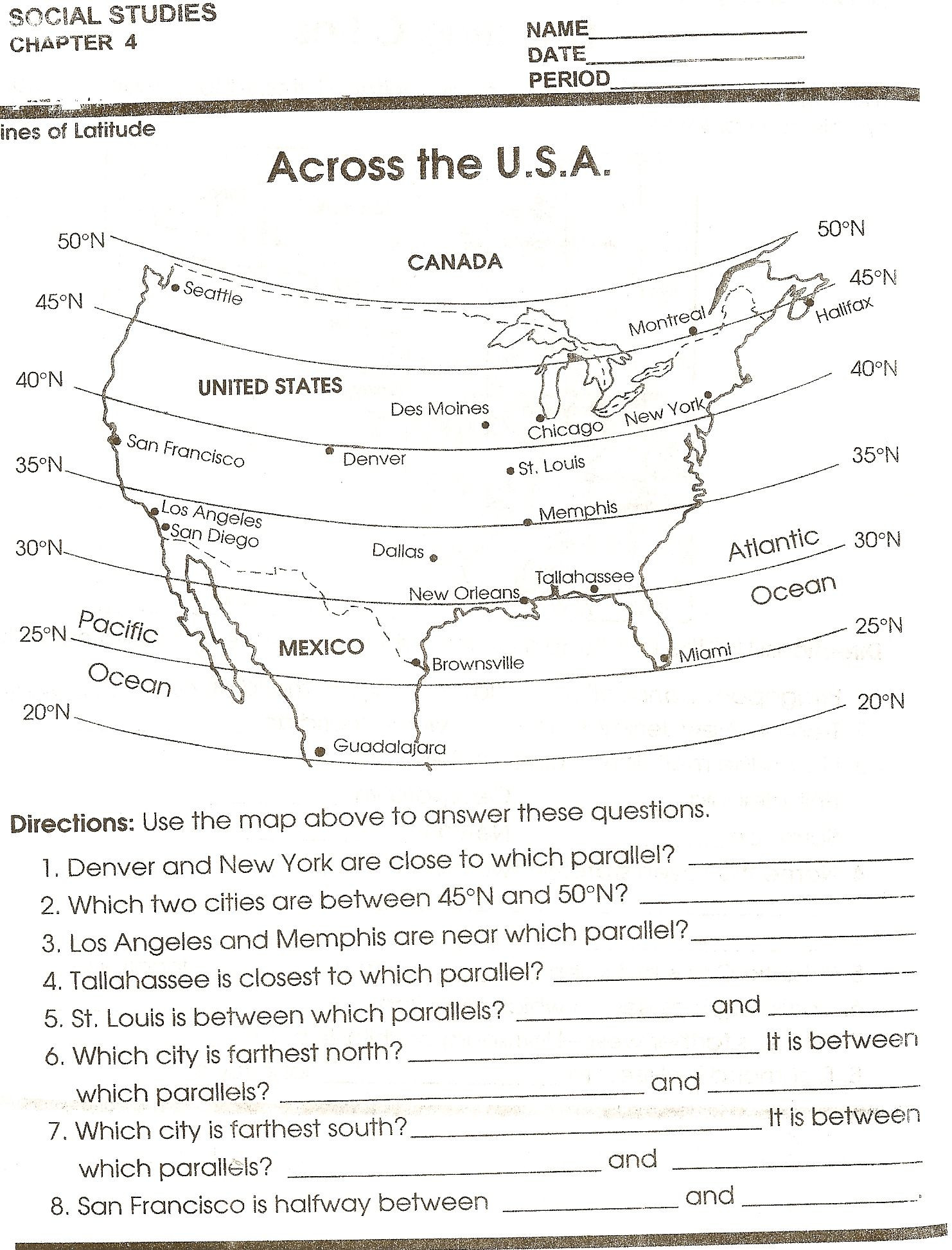 8th Grade social Studies Worksheets social Stu S Skills
