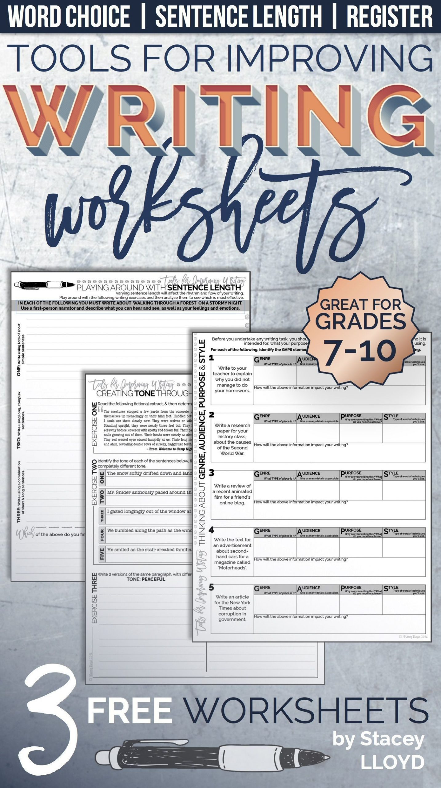 9th Grade Writing Worksheets Free tools for Improving Writing Worksheets 9th Grade