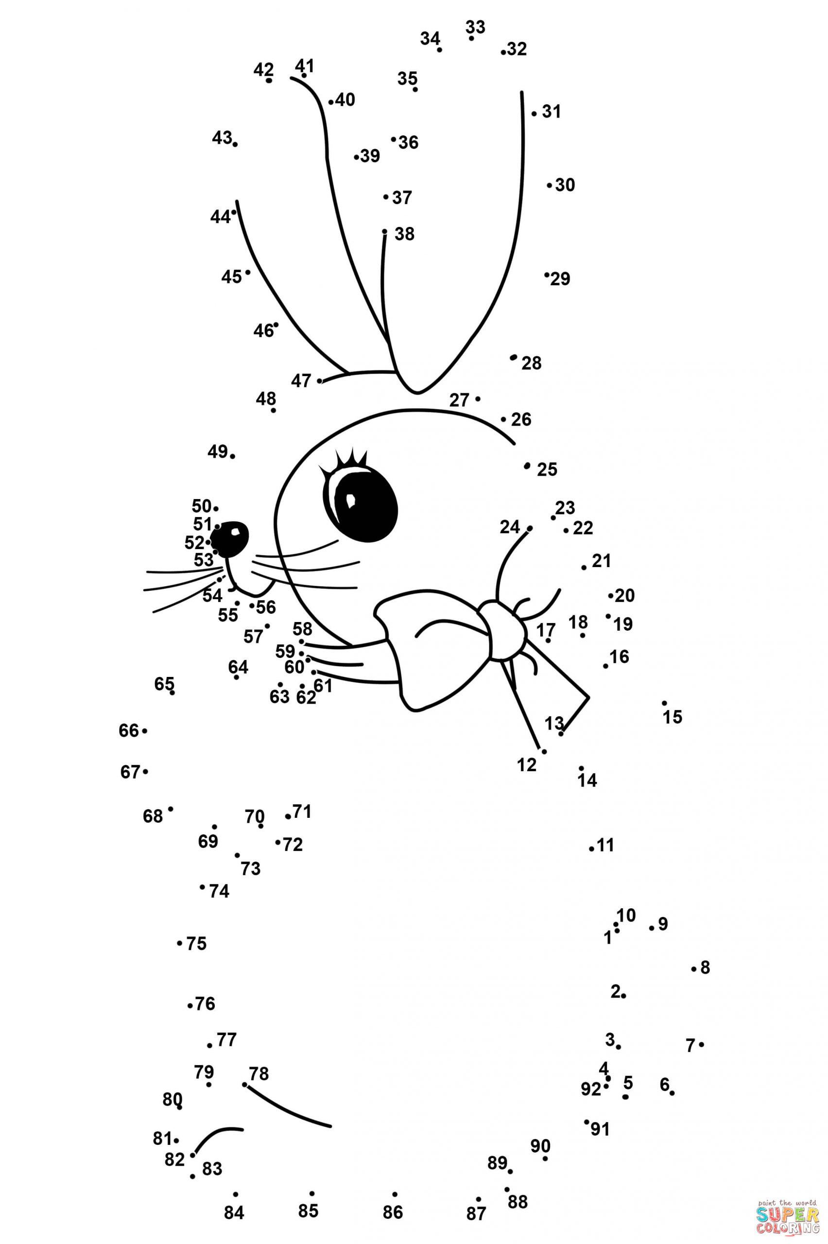 Abc Connect the Dots Printable Easter Rabbit Dot to Dot