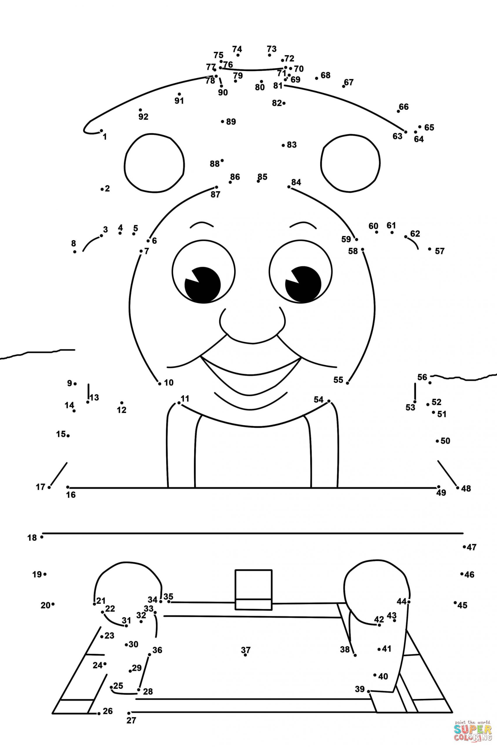 Abc Connect the Dots Printable Thomas and Friends Dot to Dot