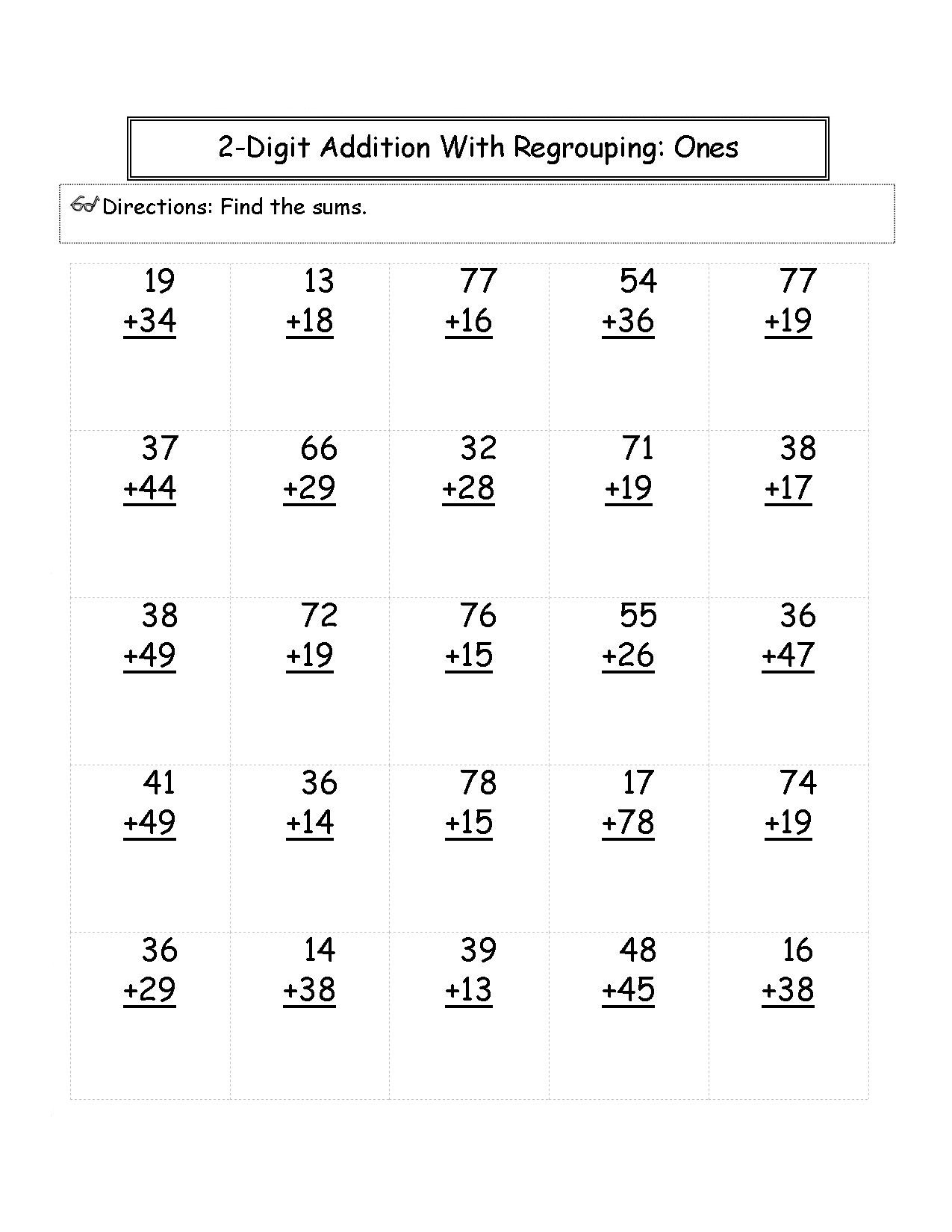 Adding Doubles Worksheet 2nd Grade 2nd Grade Math Worksheets Best Coloring Pages for Kids