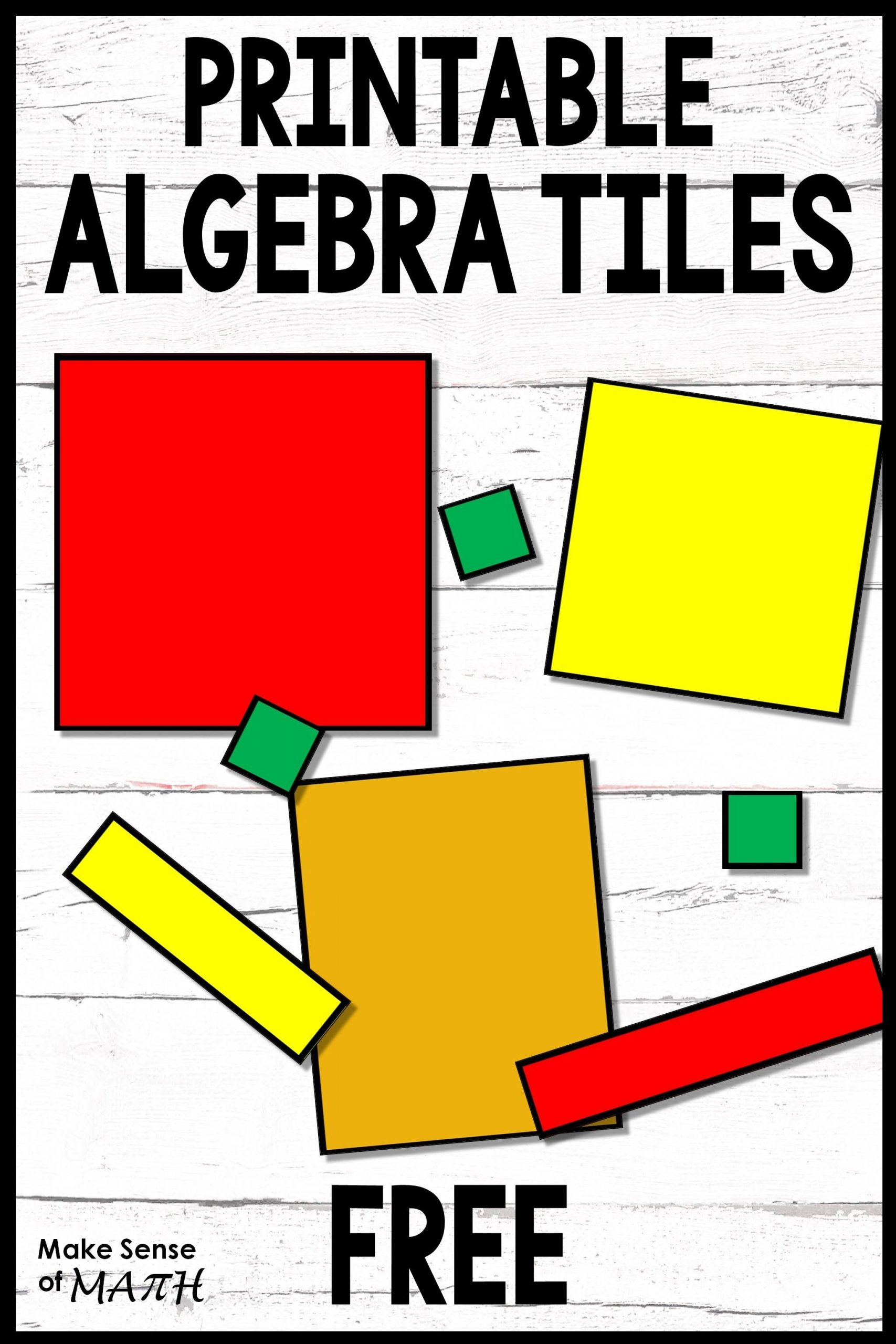 Algebra Tiles Worksheets 6th Grade Algebra Tiles Printable Free