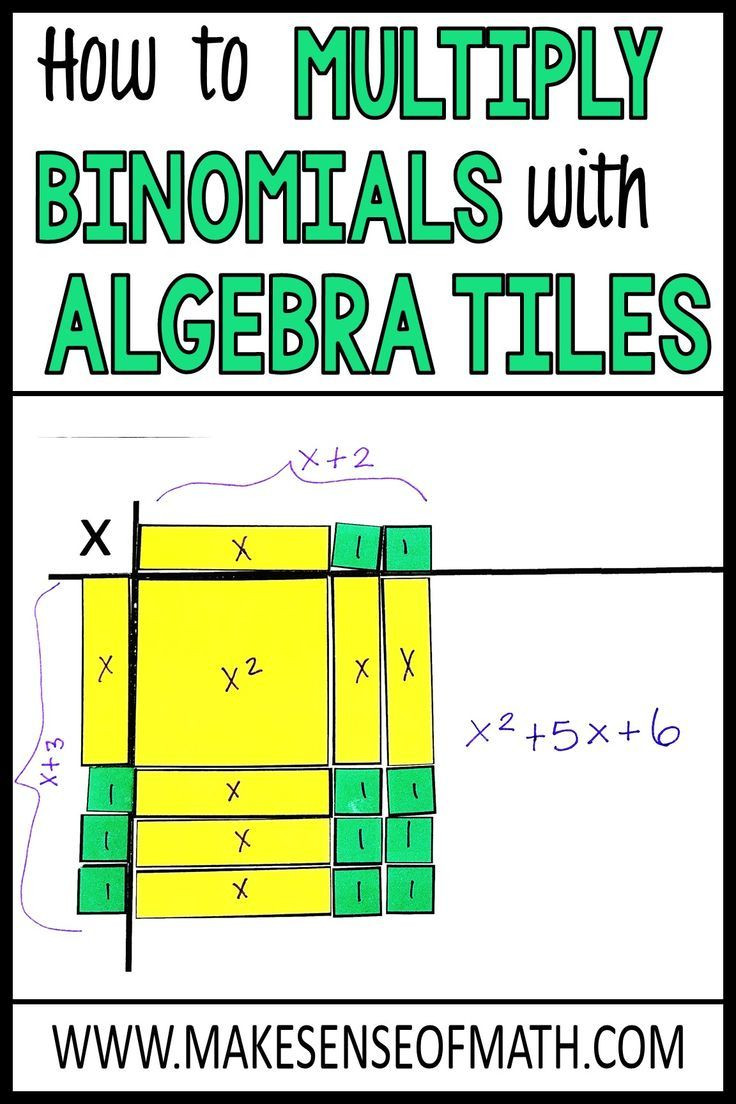 Algebra Tiles Worksheets 6th Grade How to Multiply Binomials Using Algebra Tiles In 2020