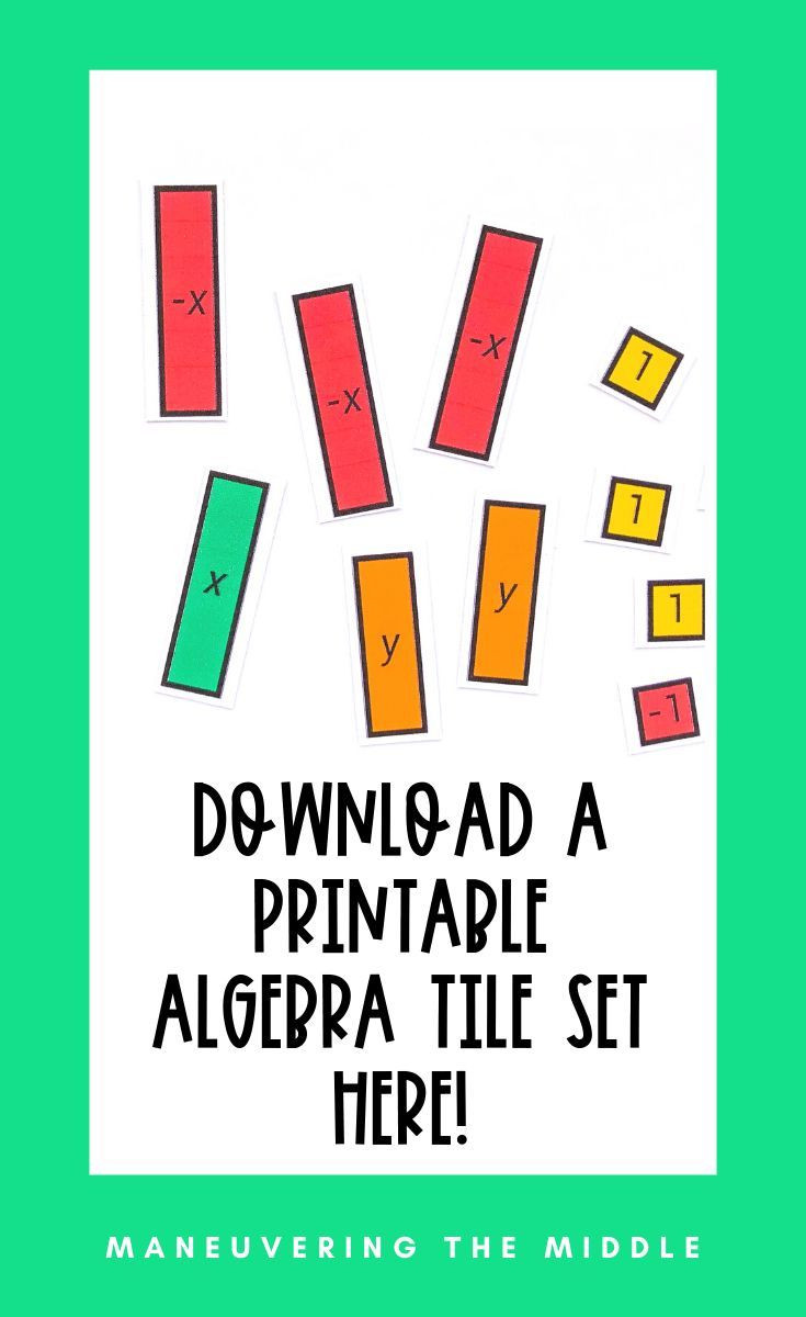 Algebra Tiles Worksheets 6th Grade why You Should Use Algebra Tiles In Your Classroom