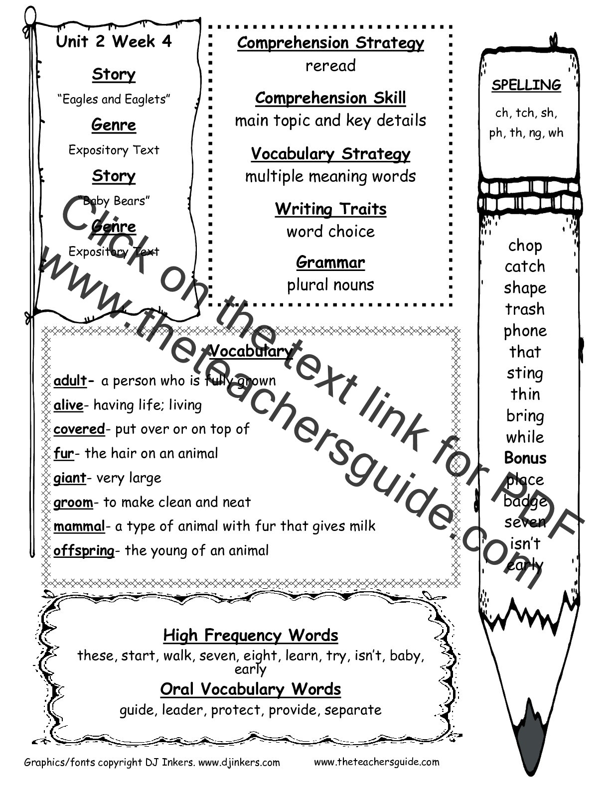 Alphabetical order Worksheets 2nd Grade Wonders Second Grade Unit Two Week Four Printouts