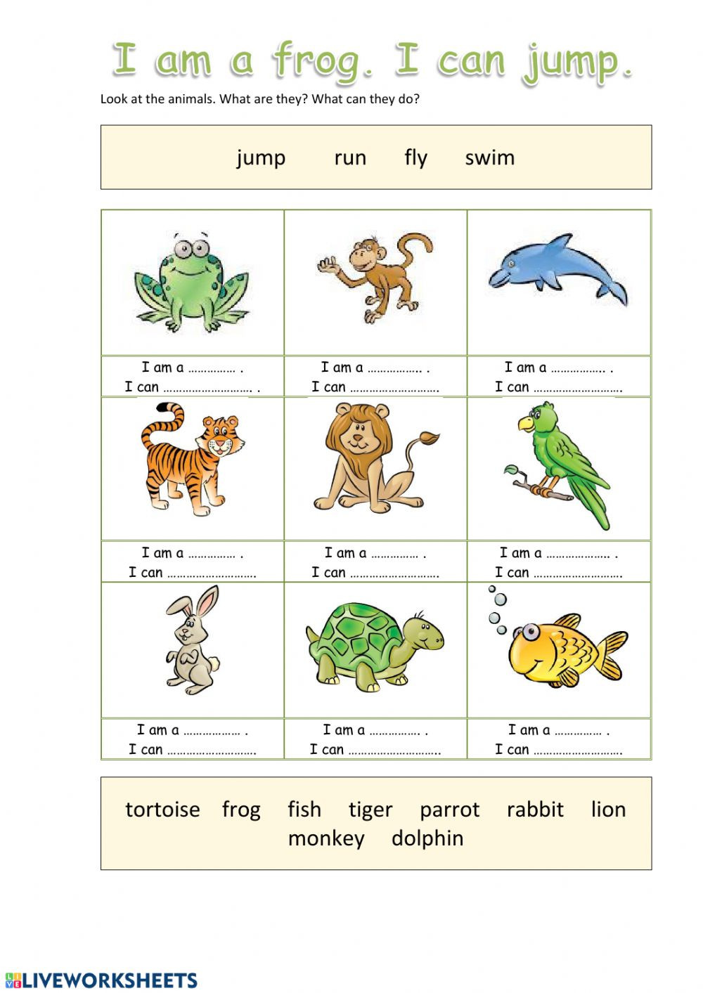 Amphibian Worksheets for Second Grade Animals