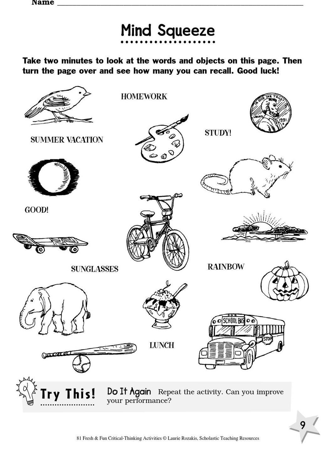 Analogy Worksheets for Middle School 81 Fun Critical Thinking Activities