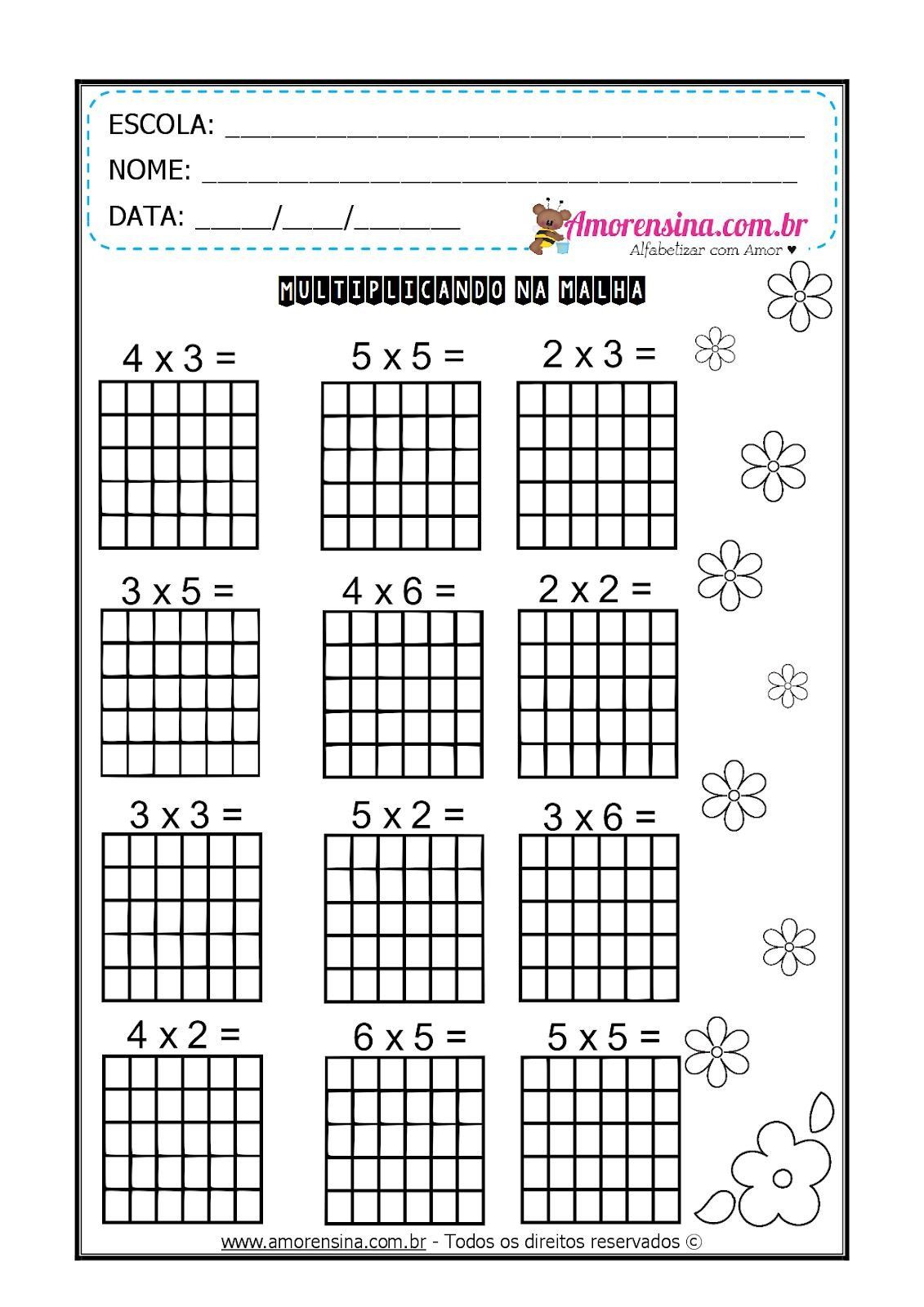 Array Math Worksheets Pin On Math for Kids