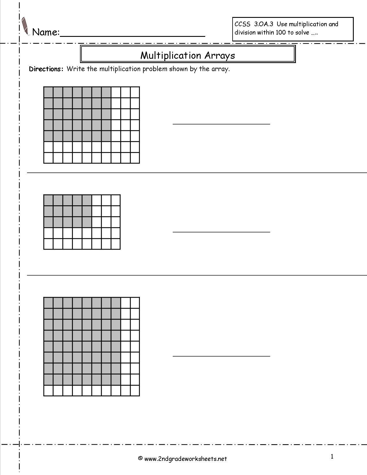 Arrays Worksheets Grade 2 Free 2ndgradeworksheets