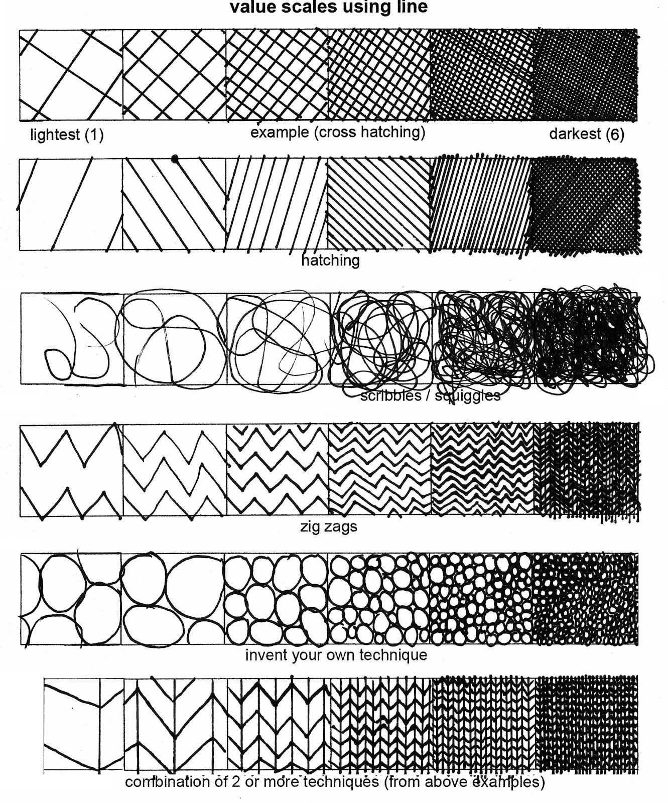 Art Worksheets Middle School Studio In Art Value Worksheets