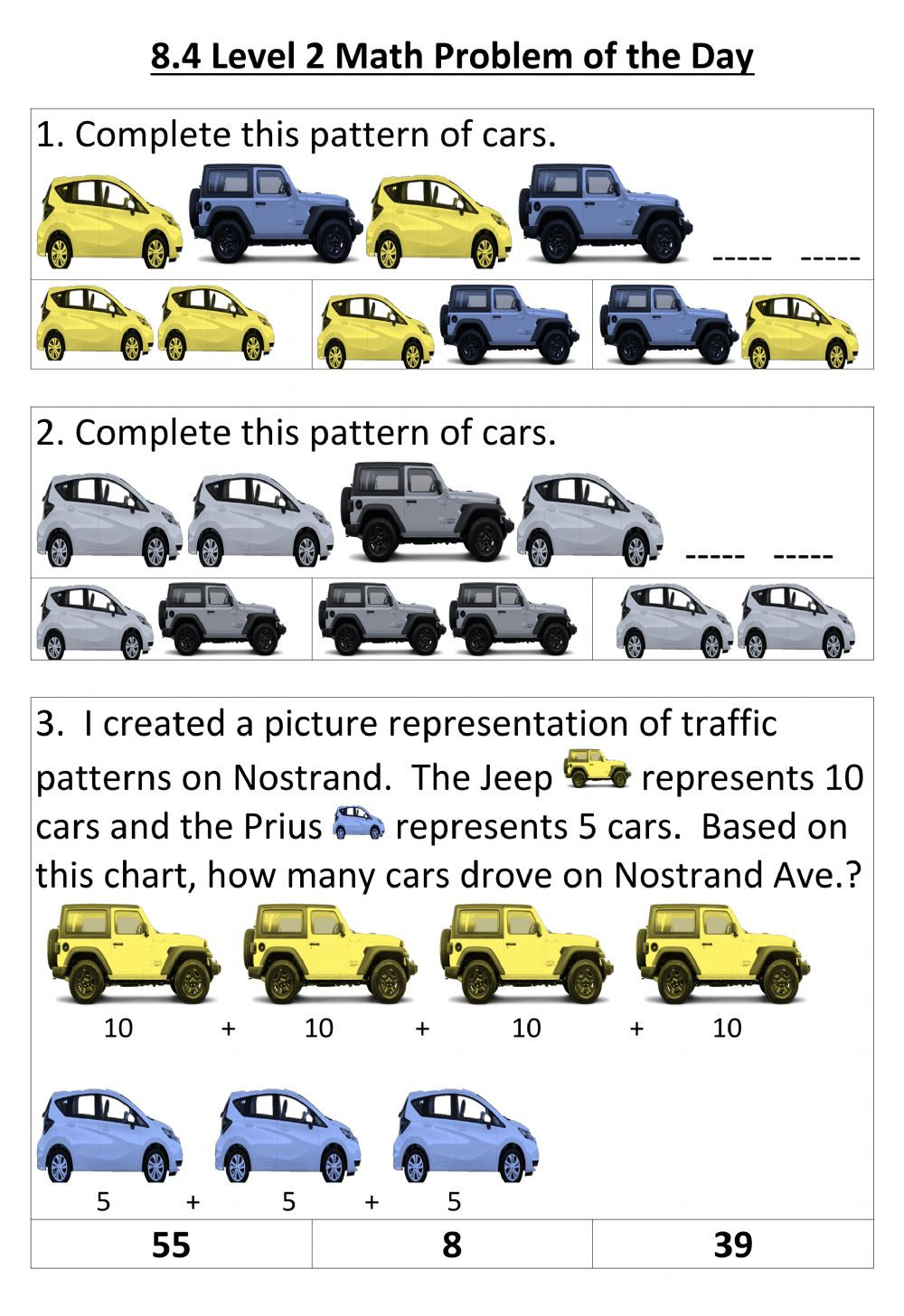 Automotive Math Worksheets 8 4 Level 2 Math Interactive Worksheet