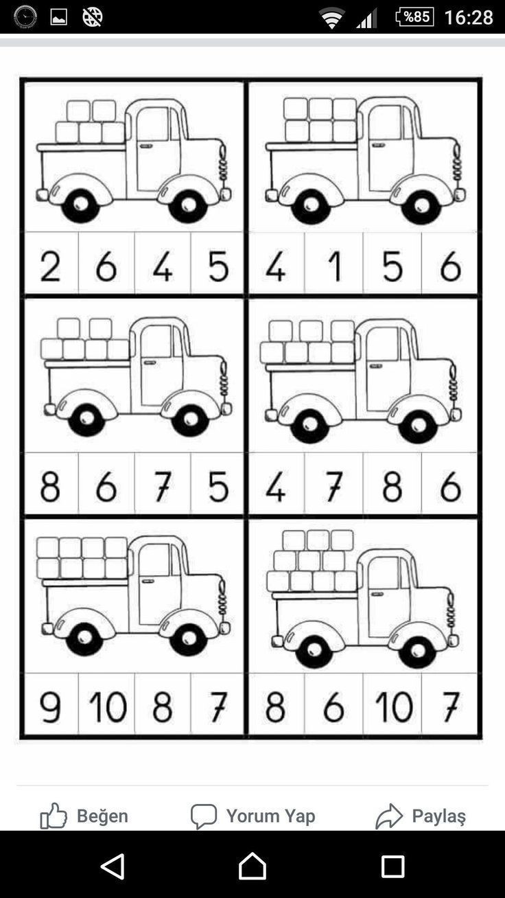 Automotive Math Worksheets Kindergarten Numbers to 20 Worksheet Pack Wood toys