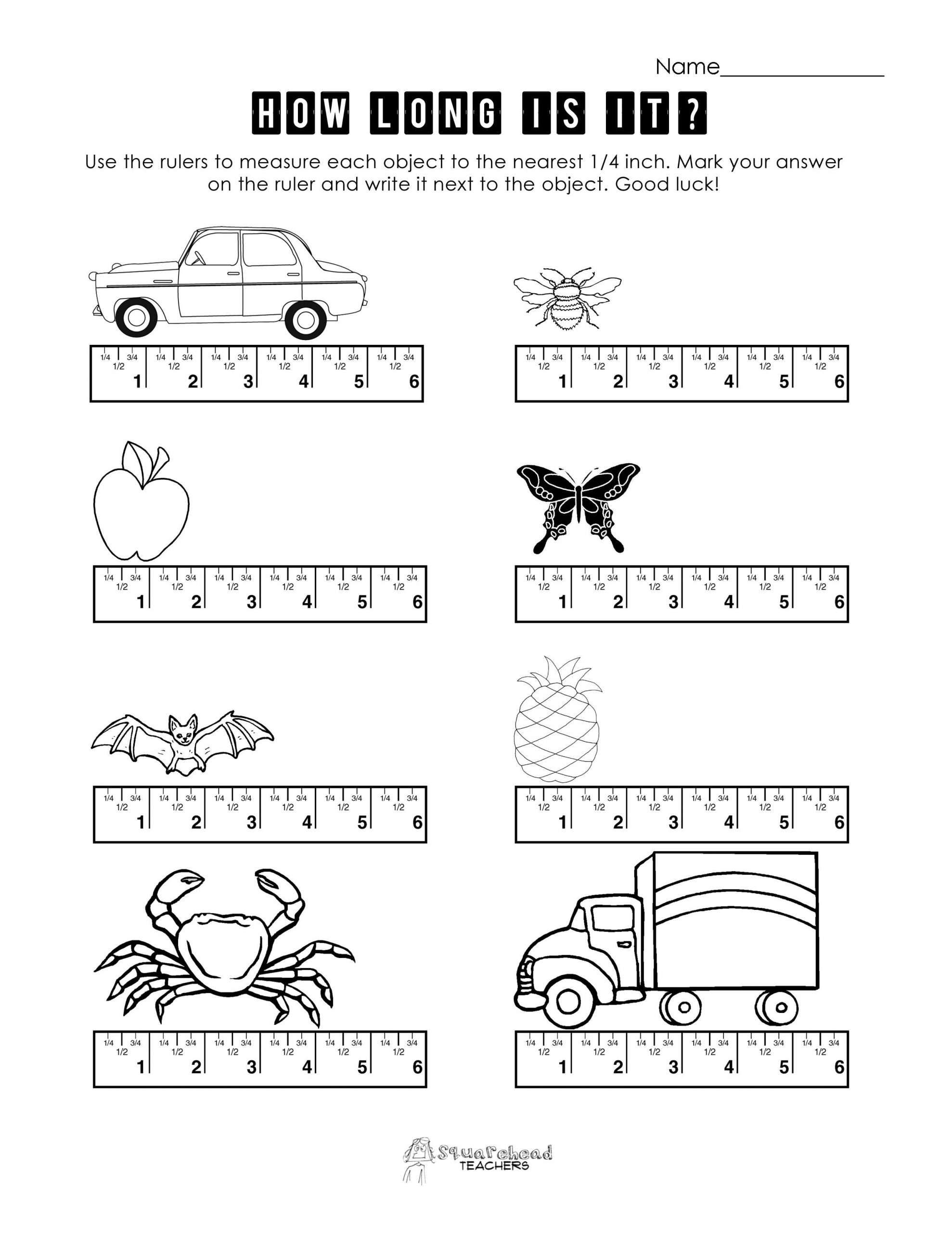 Automotive Math Worksheets Ruler Worksheet 1 Copy