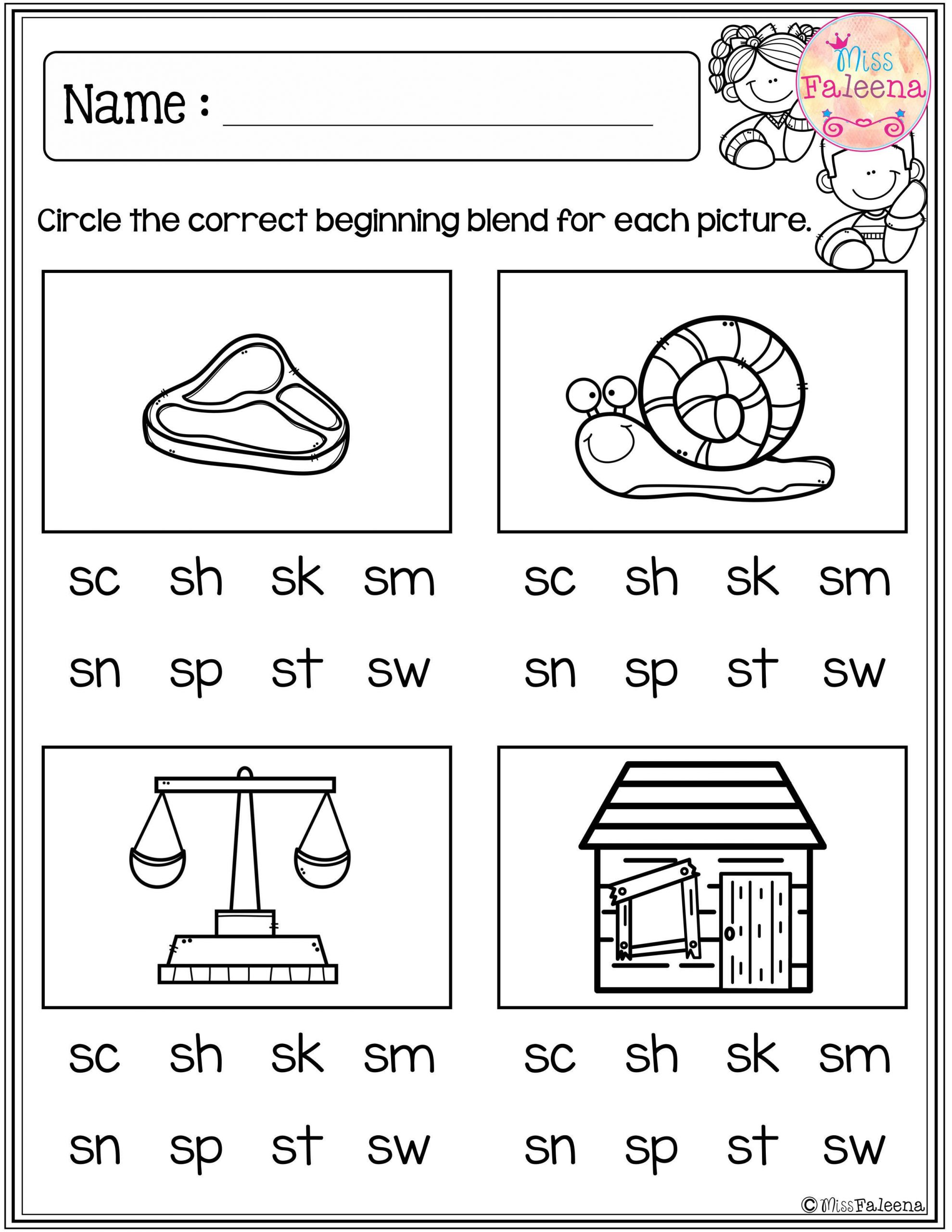 Blending Worksheets 1st Grade these are Free Samples From My Kindergarten Morning Work