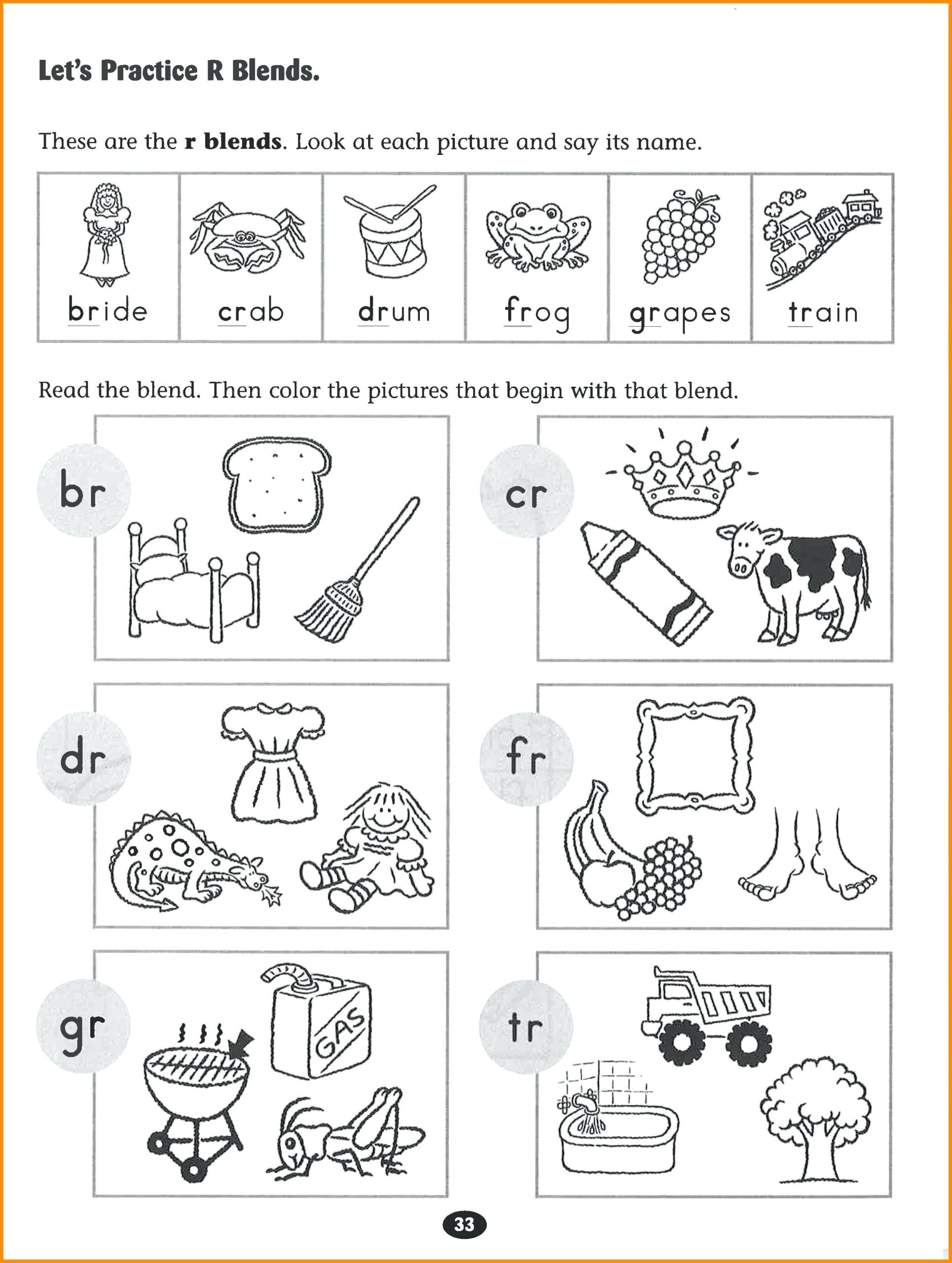 Blends Worksheets for 1st Grade Worksheet Thanksgiving School Projects Xmas Party Games