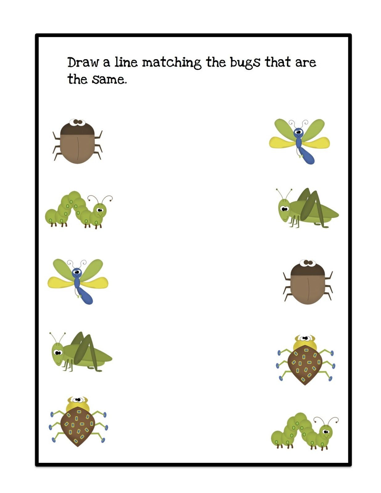 Bug Worksheets for Preschool Bugs Draw Lines 1 236—1 600 Pixels