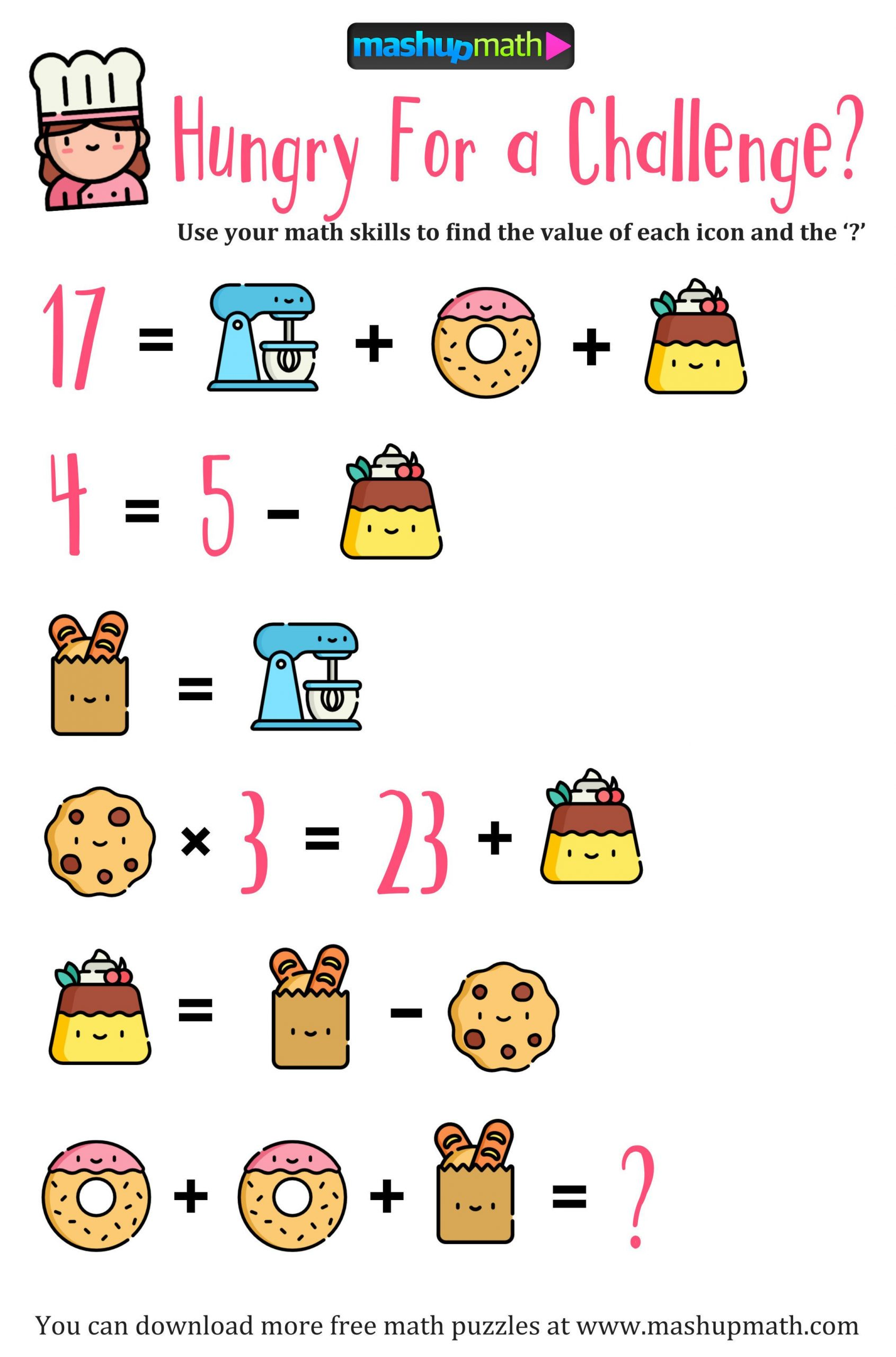Challenge Math Worksheets Pin by Ana Luz Gonzalez On Math 5